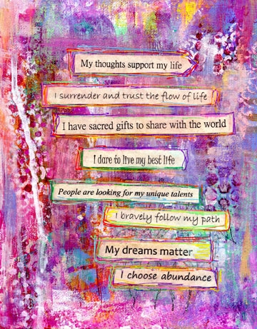 My Thoughts Support Me Mantras